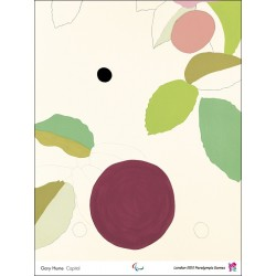 Affiche originale Jeux paralympique de Londres 2012 HUME Gary