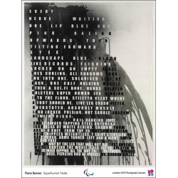 Affiche originale Jeux paralympique de Londres 2012 BANNER Fiona