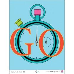 Affiche originale Jeux paralympique de Londres 2012 CRAIG-MARTIN Michael