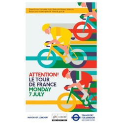 Affiche originale Tour de France Londres 2014 Sprint cyclisme