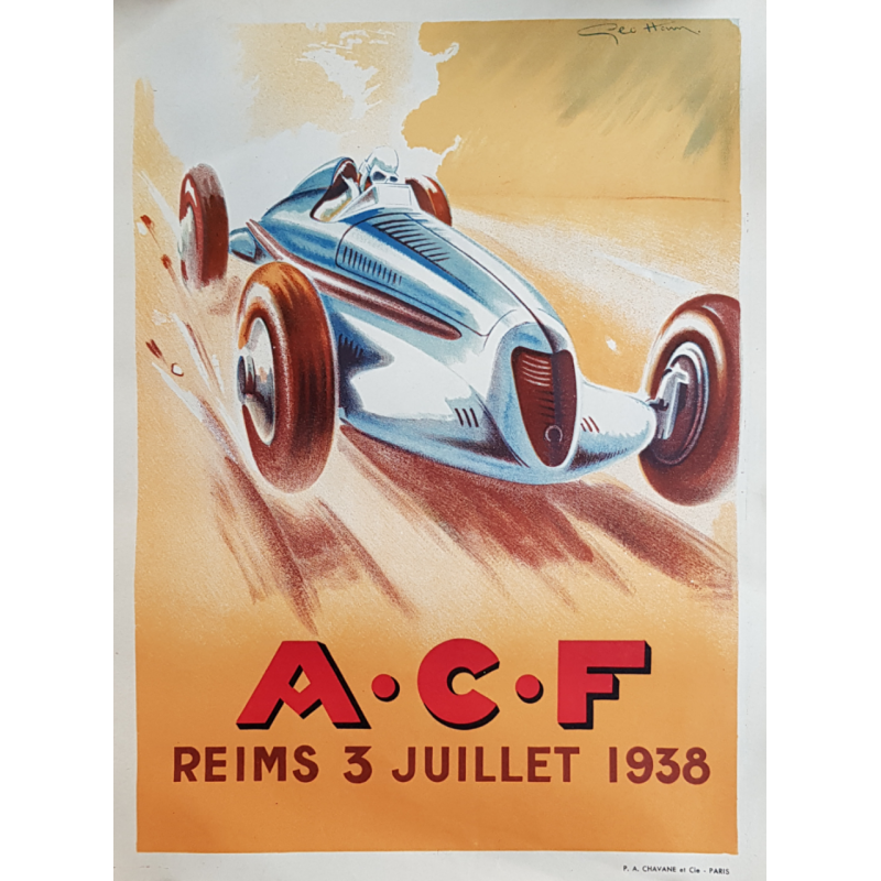 Original vintage poster ACF Reims 1938 Geo HAM