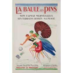 Affiche ancienne originale La Baule Les Pins Leonetto CAPPIELLO