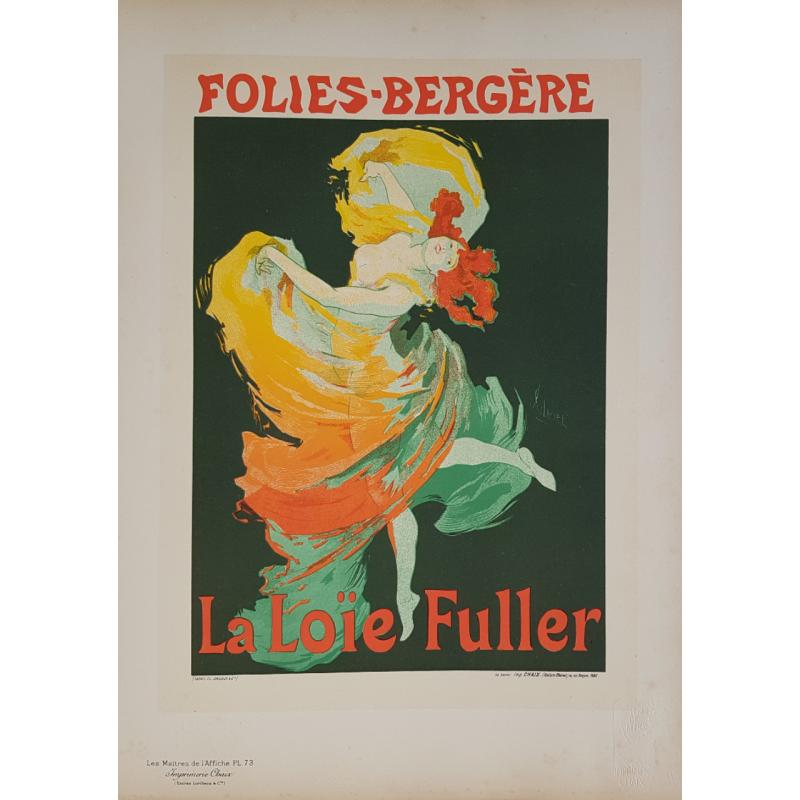Maîtres de l'Affiche Planche originale 73 Loïe FULLER Jules CHERET