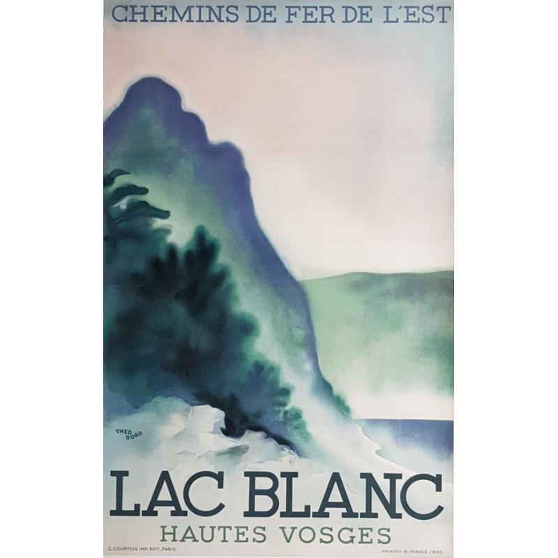 Affiche ancienne originale Lac Blanc Hautes Vosges Theo DORO