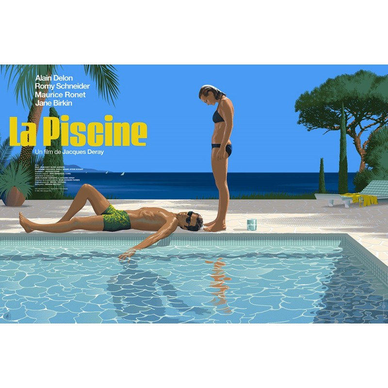 Original silkscreened poster limited La Piscine Laurent DURIEUX Nautilus Artprints