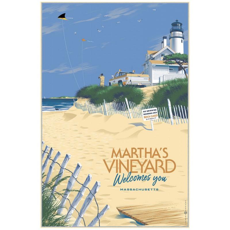 Affiche originale édition limitée regular Martha's Vineyard Laurent DURIEUX