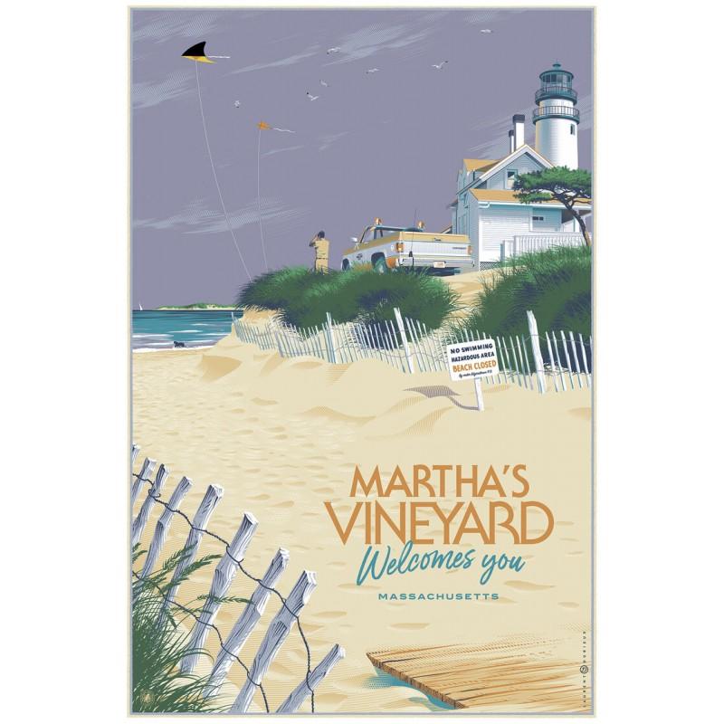 Original silkscreened poster limited variant Martha's Vineyard Laurent DURIEUX