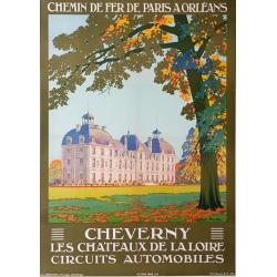 Affiche ancienne originale CHEVERNY CONSTANT DUVAL