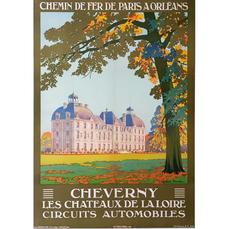 Original vintage poster CHEVERNY CONSTANT DUVAL