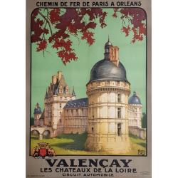 Original vintage poster VALENCAY Chateaux de la Loire ALO