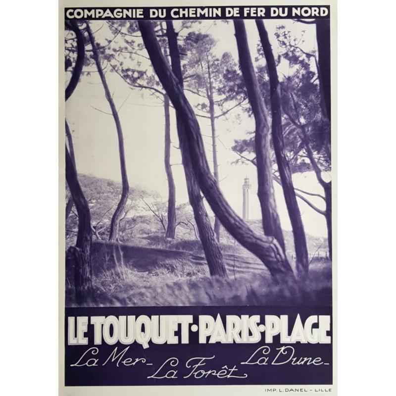 Original vintage poster Le Touquet Paris Plage Chemin de fer du Nord