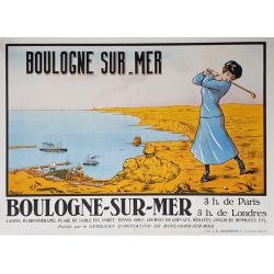 Original vintage poster golf Boulogne sur Mer VERMERSCH