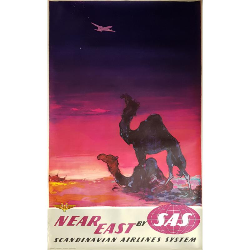 Affiche ancienne originale SAS Near East Otto Nielsen