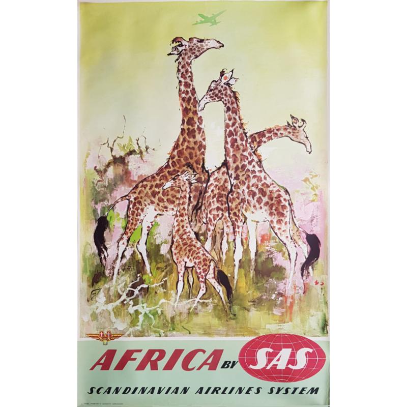 Affiche ancienne originale SAS Africa Otto Nielsen