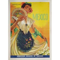 Affiche ancienne originale Jarocha Mexico REGAERT