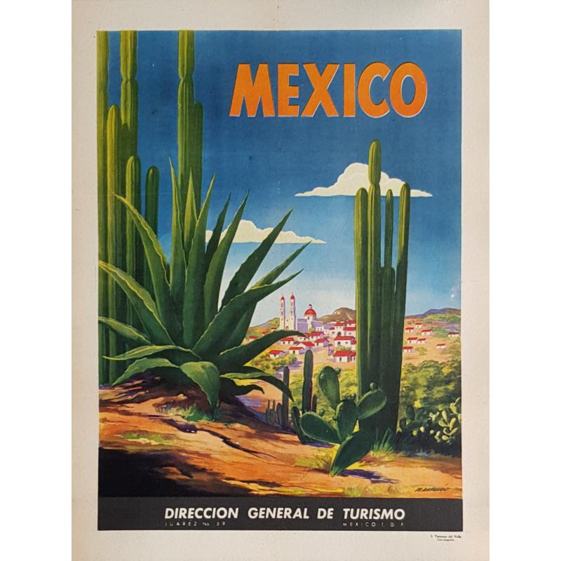 Affiche ancienne originale MEXICO MAGALLON