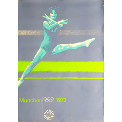 Original vintage poster Olympic games gymnastic Munich 1972