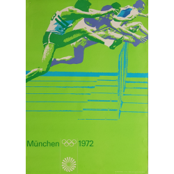 Original vintage poster Olympic games athletics Munich 1972