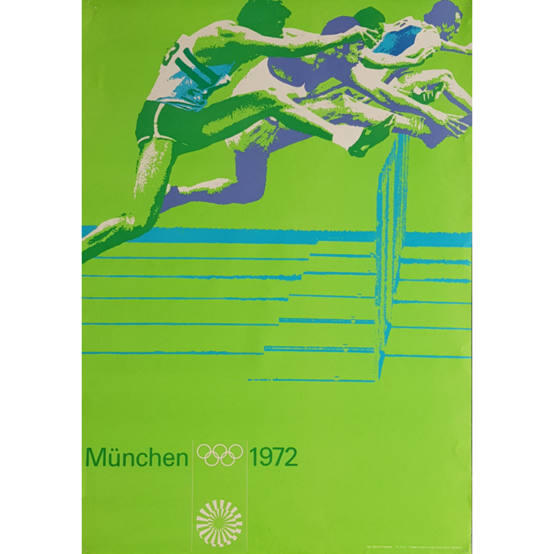 Original vintage poster Olympic games athletics Munich 1972