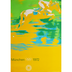 Original vintage poster Olympic games horse contest Munich 1972