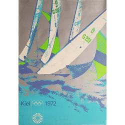 Original vintage poster Olympic games sail regatta Munich 1972