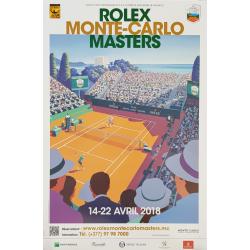 Affiche originale Tennis Monte-Carlo Rolex Master 2018