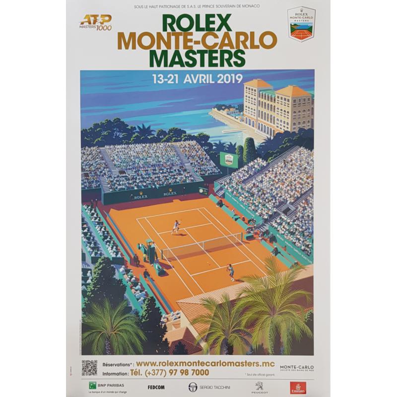Affiche originale Tennis Monte-Carlo Rolex Master 2019
