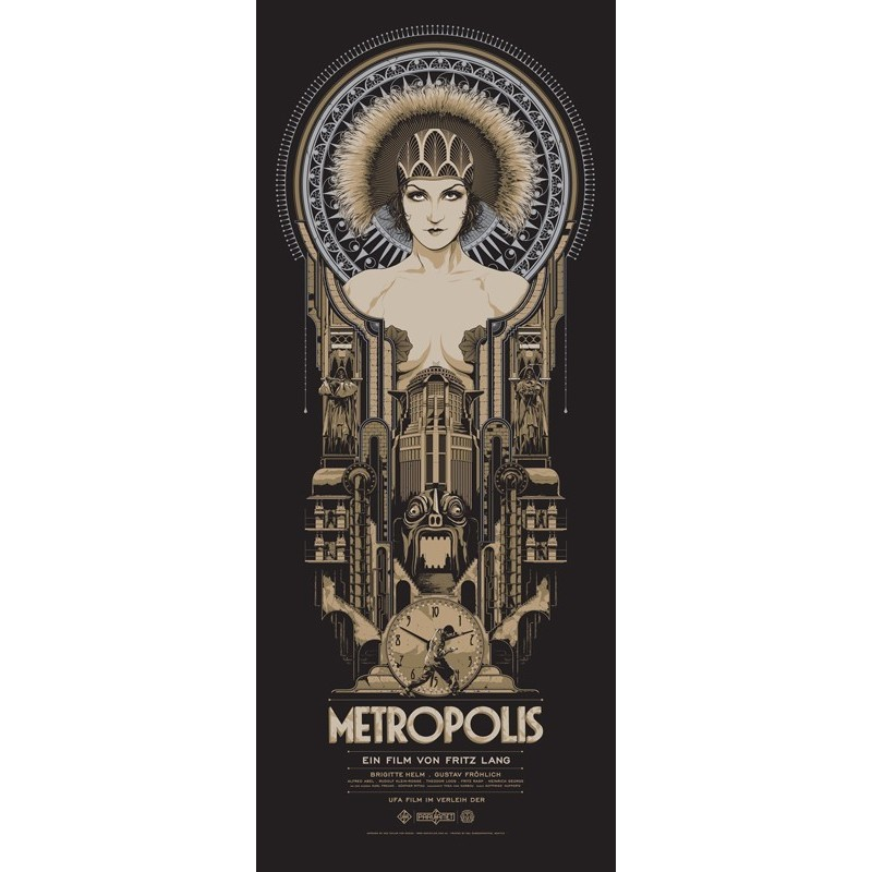 Original silkscreened poster limited edition variant print Metropolis - Ken TAYLOR - Gallery Mondo