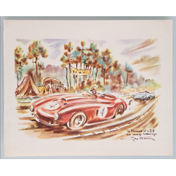 Carte ancienne originale 24 heures mans Ferrari DB Virage Arnage GEO HAM