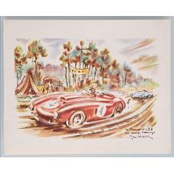 Original vintage card 24 heures mans Ferrari DB Virage Arnage GEO HAM