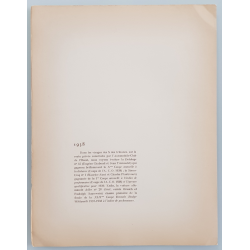 Verso Lithographie ancienne originale 24 heures mans Delahaye Simca 1938 GEO HAM