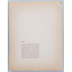 Back of Original vintage lithography 24 heures mans Delahaye Simca 1938 GEO HAM