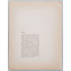 Verso Lithographie ancienne originale 24 heures mans Bugatti Delage 1939 GEO HAM