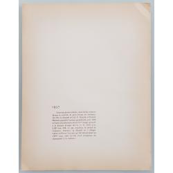 Verso Lithographie ancienne originale 24 heures mans Bugatti Veyron Labric tribunes 1937 GEO HAM