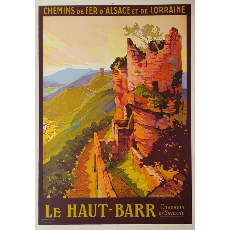 Affiche ancienne originale Le Haut Barr Environs de Saverne Roger SOUBIE