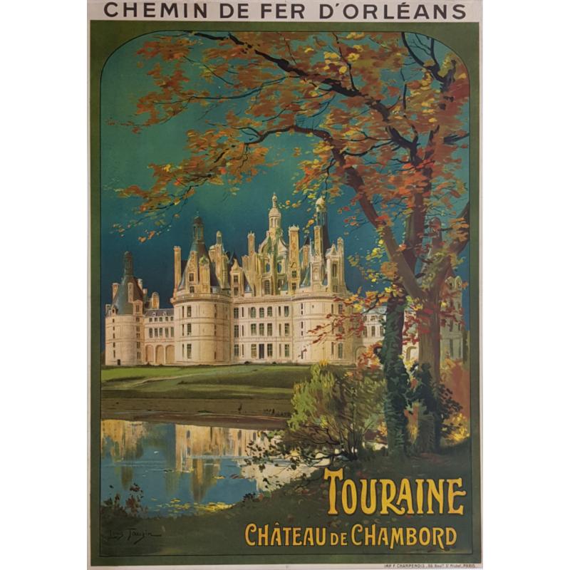 Original vintage poster Touraine Château de CHAMBORD Louis TAUZIN