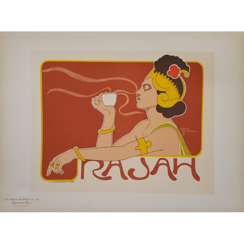 Maîtres de l'Affiche Planche originale 156 RAJAH Henri MEUNIER