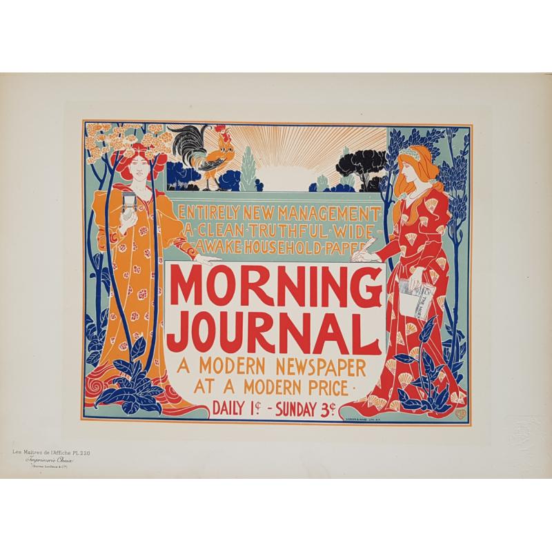 Maîtres de l'Affiche Original PLate 220 Morning Journal a Modern Newspaper