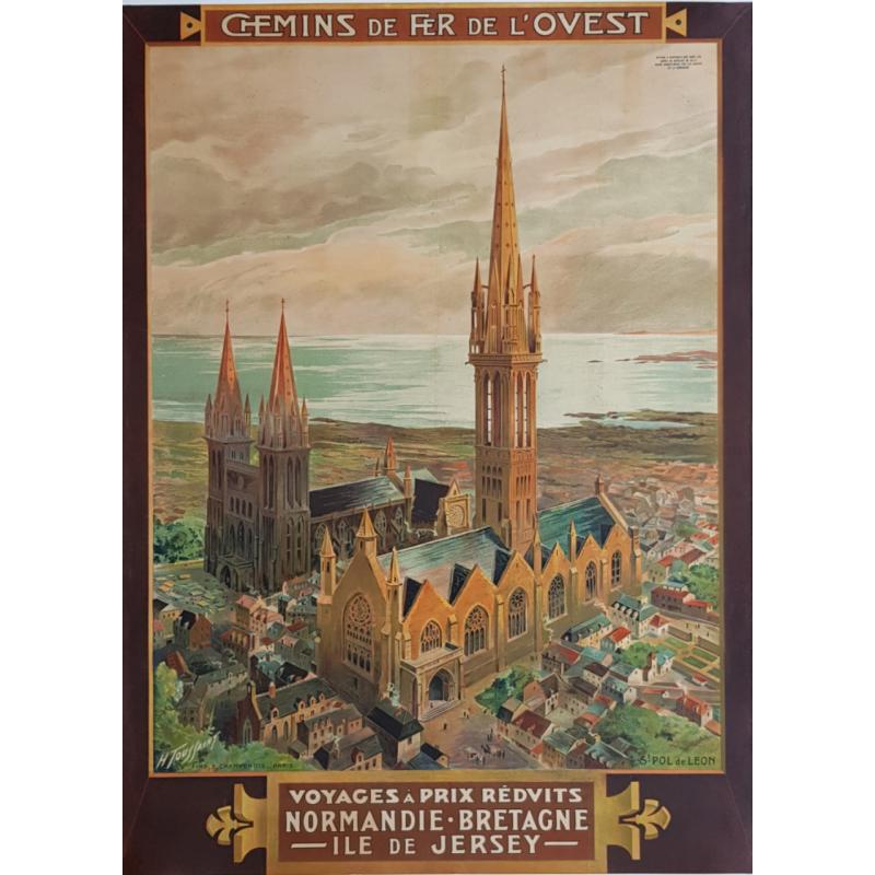 Original vintage poster St POL DE LEON Bretagne TOUSSAINT