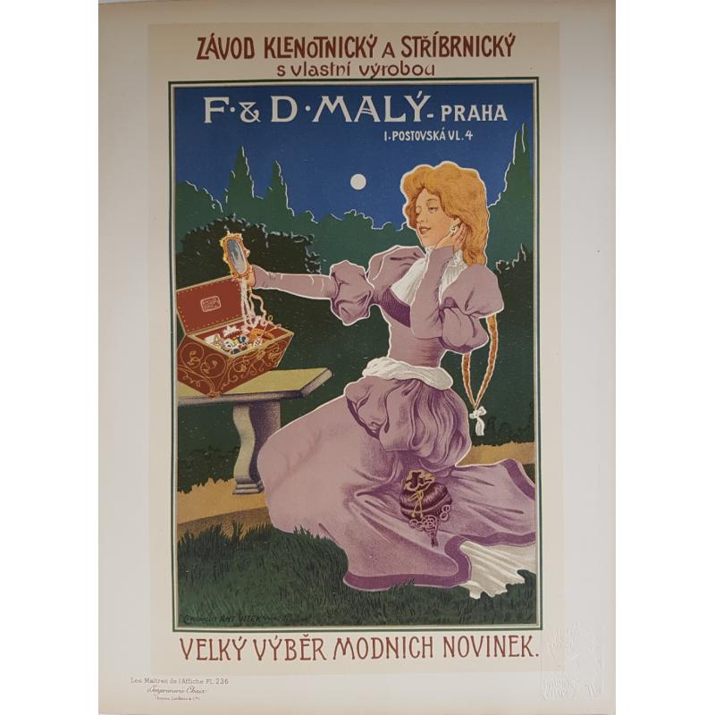 Maîtres de l'Affiche Original PLate 236 F & D MALY PRAHA REISNER