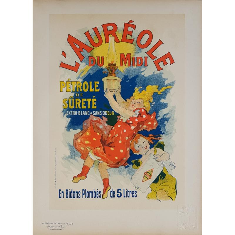 Maîtres de l'Affiche Planche originale 233 Auréole du Midi Jules CHERET