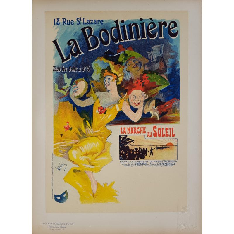 Maîtres de l'Affiche Original PLate 229 La Bodinière Jules CHERET