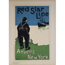 Maîtres de l'Affiche Planche originale 228 Red Star Line Anvers New-York CASSIERS