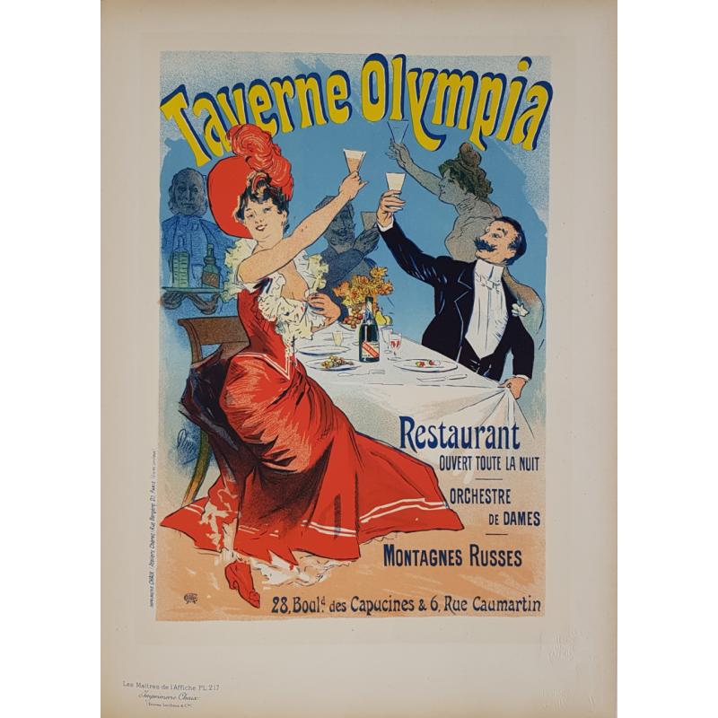 Maîtres de l'Affiche Original PLate 217 Taverne Olympia Jules CHERET