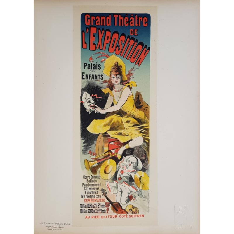 Maîtres de l'Affiche Planche originale 221 Grand Théâtre de l'Exposition Jules CHERET