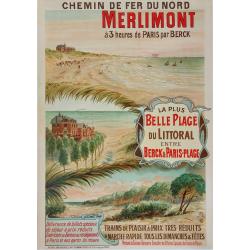 Original vintage poster chemin fer Nord  Merlimont NOGARO
