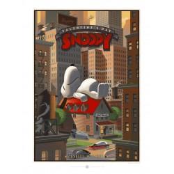 Affiche originale édition limitée Snoopy Just Married Laurent DURIEUX