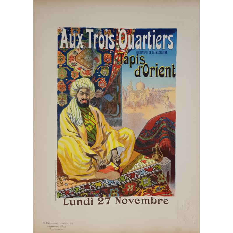 Maîtres de l'Affiche Planche originale 211 Aux trois quartiers tapis d'Orient