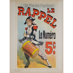 Maîtres de l'Affiche Original PLate 209 Le Rappel Jules CHERET
