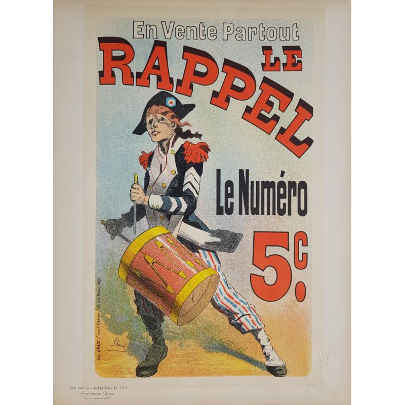 Maîtres de l'Affiche Planche originale 209 Le Rappel Jules CHERET